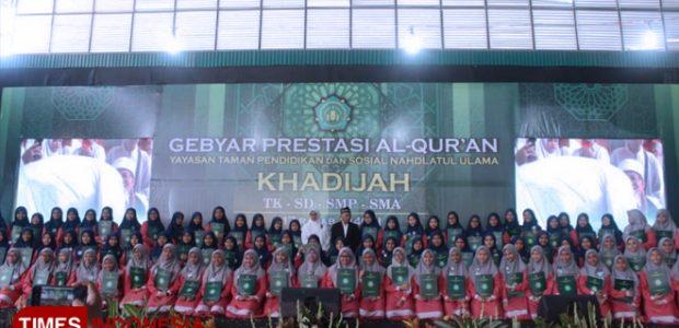 Alhamdulillah, SMP Khadijah Wisudawan Al Quran Terbanyak