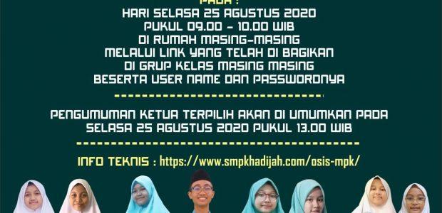 PEMILU ONLINE KETUA OSIS & MPK 2020
